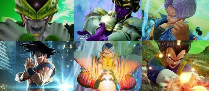 Dragon Ball Z: Son Goku, Vegeta,  Piccolo, Freezer, Cell y Trunks.